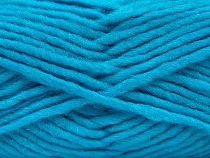 Fiber Content 85% Acrylic, 5% Mohair, 10% Wool, Turquoise, Brand Ice Yarns, Yarn Thickness 5 Bulky  Chunky, Craft, Rug, fnt2-67111
