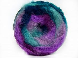 Fiber Content 95% Premium Acrylic, 5% Mohair, Turquoise Shades, Purple Shades, Brand Ice Yarns, Yarn Thickness 5 Bulky  Chunky, Craft, Rug, fnt2-67129