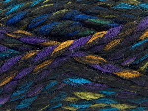Fiber Content 75% Acrylic, 25% Wool, Rainbow, Brand Ice Yarns, Black, Yarn Thickness 6 SuperBulky  Bulky, Roving, fnt2-67145
