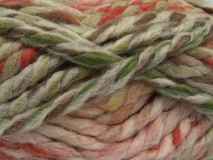 Fiber Content 75% Acrylic, 25% Wool, Pink Shades, Brand Ice Yarns, Cream, Brown Shades, Yarn Thickness 6 SuperBulky  Bulky, Roving, fnt2-67148