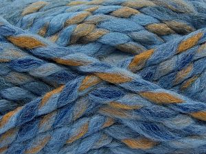 Fiber Content 75% Acrylic, 25% Wool, White, Brand Ice Yarns, Camel, Blue Shades, Yarn Thickness 6 SuperBulky  Bulky, Roving, fnt2-67158