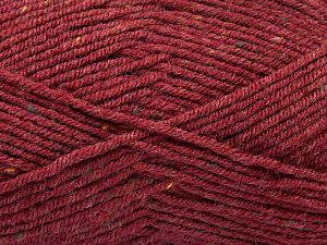 Fiber Content 75% Premium Acrylic, 5% Viscose, 20% Wool, Brand Ice Yarns, Dark Burgundy, Yarn Thickness 4 Medium  Worsted, Afghan, Aran, fnt2-67174