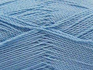 Fiber Content 100% Premium Acrylic, Brand Ice Yarns, Baby Blue, Yarn Thickness 2 Fine  Sport, Baby, fnt2-67216