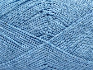 Fiber Content 100% Cotton, Brand Ice Yarns, Baby Blue, Yarn Thickness 2 Fine  Sport, Baby, fnt2-67247