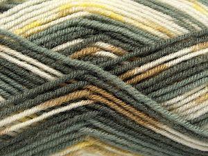 Fiber Content 75% Premium Acrylic, 25% Wool, Yellow, White, Brand Ice Yarns, Grey Shades, Camel, Yarn Thickness 3 Light  DK, Light, Worsted, fnt2-67248