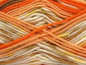 Fiber Content 75% Premium Acrylic, 25% Wool, Yellow, White, Orange Shades, Brand Ice Yarns, Brown Shades, Yarn Thickness 3 Light  DK, Light, Worsted, fnt2-67250