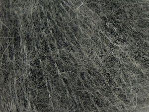 Fiber Content 41% Alpaca Superfine, 41% Kid Mohair, 2% Elastan, 16% Nylon, Brand Ice Yarns, Grey, Yarn Thickness 3 Light  DK, Light, Worsted, fnt2-67290
