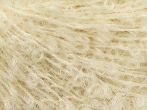 Fiber Content 41% Alpaca Superfine, 41% Kid Mohair, 2% Elastan, 16% Nylon, Brand Ice Yarns, Ecru, fnt2-67297