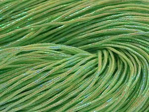 Please note that this is a hand-dyed yarn. Colors in different lots may vary because of the charateristics of the yarn. Also see the package photos for the colorway in full; as skein photos may not show all colors. Fiber Content 60% Metallic Lurex, 40% Cotton, Neon Green, Brand Ice Yarns, Yarn Thickness 2 Fine  Sport, Baby, fnt2-67299