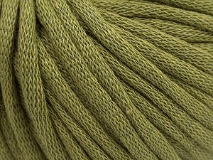 This is a tube-like yarn with soft cotton fleece filled inside. Fiber Content 70% Cotton, 30% Polyester, Light Khaki, Brand Ice Yarns, Yarn Thickness 5 Bulky  Chunky, Craft, Rug, fnt2-67317