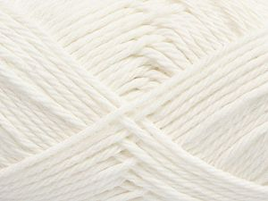 Fiber Content 100% Cotton, White, Brand Ice Yarns, Yarn Thickness 4 Medium  Worsted, Afghan, Aran, fnt2-67327
