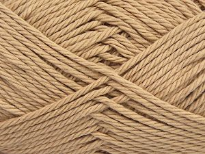 Fiber Content 100% Cotton, Brand Ice Yarns, Beige, Yarn Thickness 4 Medium  Worsted, Afghan, Aran, fnt2-67329