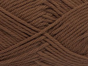 Fiber Content 100% Cotton, Brand Ice Yarns, Dark Brown, Yarn Thickness 4 Medium  Worsted, Afghan, Aran, fnt2-67330