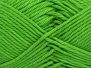 Fiber Content 100% Cotton, Brand Ice Yarns, Green, Yarn Thickness 4 Medium  Worsted, Afghan, Aran, fnt2-67340