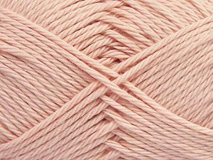 Fiber Content 100% Cotton, Brand Ice Yarns, Baby Pink, Yarn Thickness 4 Medium  Worsted, Afghan, Aran, fnt2-67341