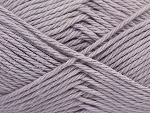 Fiber Content 100% Cotton, Light Lilac, Brand Ice Yarns, Yarn Thickness 4 Medium  Worsted, Afghan, Aran, fnt2-67345