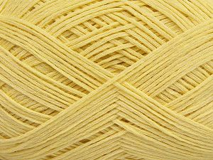 Fiber Content 67% Cotton, 33% Polyamide, Light Yellow, Brand Ice Yarns, Yarn Thickness 2 Fine  Sport, Baby, fnt2-67378