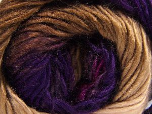 Fiber Content 100% Premium Acrylic, Purple Shades, Brand Ice Yarns, Fuchsia, Brown Shades, fnt2-67391