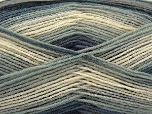 Fiber Content 75% Superwash Wool, 25% Polyamide, Brand Ice Yarns, Grey, Cream, Camel, Black, Yarn Thickness 1 SuperFine  Sock, Fingering, Baby, fnt2-67402