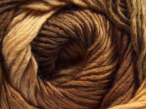 Fiberinnehåll 50% Ull, 50% Akryl, Brand Ice Yarns, Cream, Brown Shades, fnt2-67459