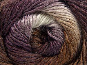 Fiberinnehåll 50% Ull, 50% Akryl, White, Purple, Brand Ice Yarns, Brown, fnt2-67460