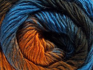 Fiber Content 50% Wool, 50% Acrylic, Brand Ice Yarns, Gold, Brown Shades, Blue, fnt2-67461