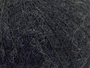 Fiber Content 36% Polyamide, 31% Extrafine Merino Wool, 30% Baby Alpaca, 3% Elastan, Brand Ice Yarns, Anthracite Black, fnt2-67470