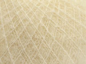 Fiber Content 36% Polyamide, 31% Extrafine Merino Wool, 30% Baby Alpaca, 3% Elastan, Light Cream, Brand Ice Yarns, fnt2-67476