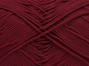 Width is 2-3 mm Fiber Content 100% Polyester, Brand Ice Yarns, Burgundy, fnt2-67573