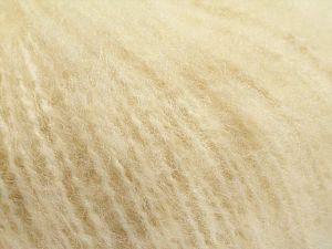 Fiberinnehåll 65% Akryl, 35% Mohair, Brand Ice Yarns, Ecru, fnt2-67601