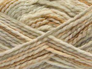 Fiber Content 70% Acrylic, 30% Wool, Light Salmon, Light Grey, Light Brown, Brand Ice Yarns, Cream, fnt2-67622