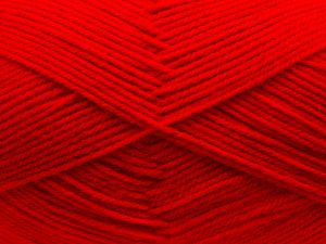 Cold Rinse. Short spin. Do not wring. Do not iron. Dry cleanable. Do not bleach. Fiber Content 65% Acrylic, 35% Wool, Red, Brand Ice Yarns, fnt2-67645
