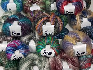 Self Striping Yarns In this list; you see most recent 50 mixed lots. <br> To see all <a href=&/mixed_lots/o/4#list&>CLICK HERE</a> (Old ones have much better deals)<hr> Brand Ice Yarns, fnt2-67713