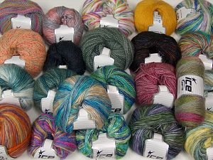 Self Striping Yarns In this list; you see most recent 50 mixed lots. <br> To see all <a href=&/mixed_lots/o/4#list&>CLICK HERE</a> (Old ones have much better deals)<hr> Brand Ice Yarns, fnt2-67715