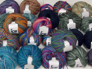 Self Striping Yarns In this list; you see most recent 50 mixed lots. <br> To see all <a href=&/mixed_lots/o/4#list&>CLICK HERE</a> (Old ones have much better deals)<hr> Brand Ice Yarns, fnt2-67716