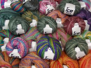 Self Striping Yarns In this list; you see most recent 50 mixed lots. <br> To see all <a href=&/mixed_lots/o/4#list&>CLICK HERE</a> (Old ones have much better deals)<hr> Brand Ice Yarns, fnt2-67717