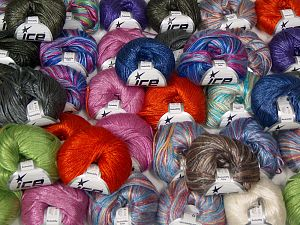 Rockabilly - Rockabilly Color Yarns In this list; you see most recent 50 mixed lots. <br> To see all <a href=&/mixed_lots/o/4#list&>CLICK HERE</a> (Old ones have much better deals)<hr> Fiber Content 67% Tencel, 33% Polyamide, Brand Ice Yarns, fnt2-67720