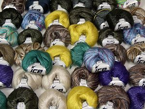 Rockabilly - Rockabilly Color Yarns In this list; you see most recent 50 mixed lots. <br> To see all <a href=&/mixed_lots/o/4#list&>CLICK HERE</a> (Old ones have much better deals)<hr> Fiber Content 67% Tencel, 33% Polyamide, Brand Ice Yarns, fnt2-67722