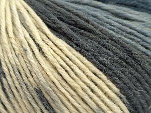 Fiber Content 75% Superwash Wool, 25% Polyamide, Brand Ice Yarns, Grey Shades, Cream, fnt2-67749