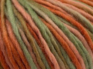 Fiber Content 100% Wool, Salmon Shades, Khaki Shades, Brand Ice Yarns, fnt2-67761