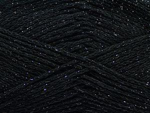 Fiber Content 88% Cotton, 12% Metallic Lurex, Brand Ice Yarns, Black, fnt2-67826