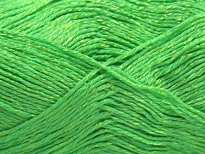 Fiber Content 67% Cotton, 33% Viscose, Neon Green, Brand Ice Yarns, fnt2-67853