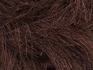 Fiber Content 100% Polyester, Brand Ice Yarns, Brown, Yarn Thickness 6 SuperBulky  Bulky, Roving, fnt2-13020