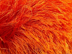 Fiber Content 100% Polyester, Orange, Brand Ice Yarns, Yarn Thickness 6 SuperBulky  Bulky, Roving, fnt2-13269