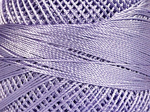 Fiber Content 100% Micro Fiber, Brand YarnArt, Lilac, Yarn Thickness 0 Lace  Fingering Crochet Thread, fnt2-17326