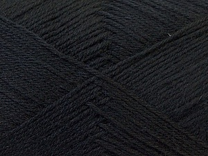 Fiber Content 60% Merino Wool, 40% Acrylic, Brand Ice Yarns, Black, Yarn Thickness 2 Fine  Sport, Baby, fnt2-21088