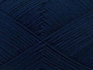 Fiber Content 60% Merino Wool, 40% Acrylic, Navy, Brand Ice Yarns, Yarn Thickness 2 Fine  Sport, Baby, fnt2-21102