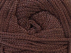 Width is 2-3 mm Fiber Content 100% Polyester, Brand Ice Yarns, Brown, fnt2-21639