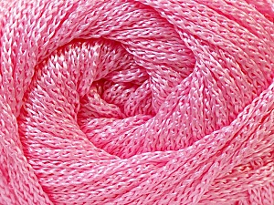 Width is 3 mm Fiber Content 100% Polyester, Light Pink, Brand Ice Yarns, fnt2-21645