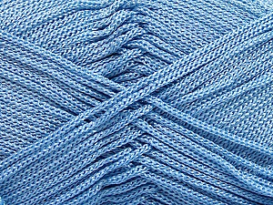 Width is 2-3 mm Fiber Content 100% Polyester, Light Blue, Brand Ice Yarns, fnt2-21647